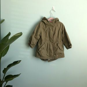 Baby Gap jersey lined green parka